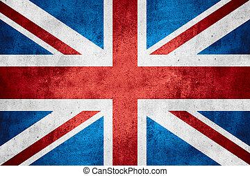 bandera, de, reino unido