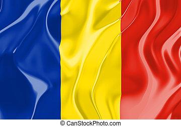 bandera, de, rumania