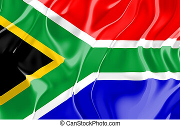 bandera, de, sudáfrica