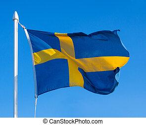 bandera, de, suecia