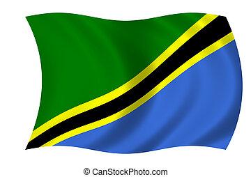 bandera, de, tanzania