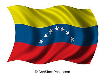 bandera, de, venezuela
