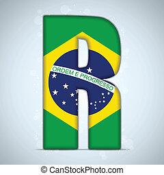 bandera del brasil, brasileño, alfabeto, cartas, palabras