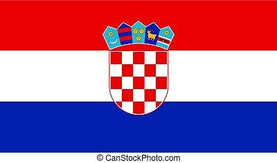 bandera del croatia, diseño