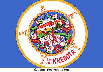 bandera del estado, minnesota