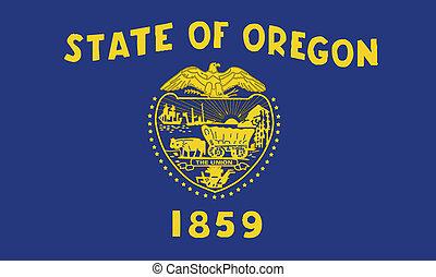 bandera del estado, oregón