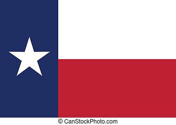bandera del estado, tejas