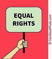 bandera, derechos iguales