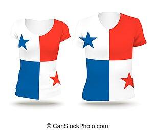 bandera, diseño, camisa, panamá