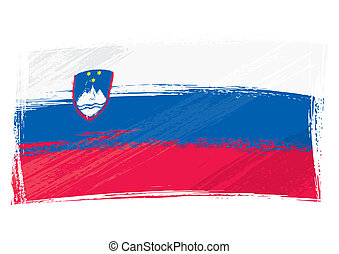 bandera eslovenia, grunge