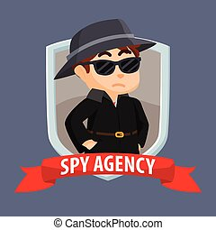 bandera, espía, agencia, emblema