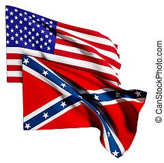 bandera, estados unidos de américa, confederado