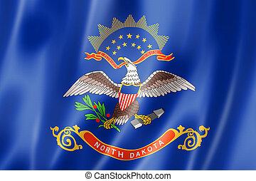 bandera, estados unidos de américa, dakota del norte