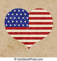 bandera estadounidense, ilustración