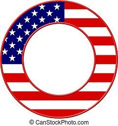 bandera estadounidense, marco
