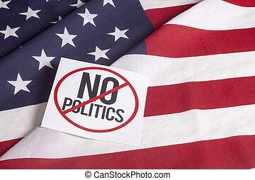 bandera estadounidense, -, no, política