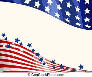 bandera estadounidense, patriótico, plano de fondo
