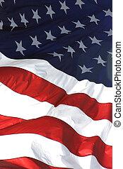 bandera estadounidense, vertical, vista