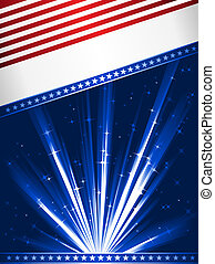 bandera, estilizado, estados unidos de américa