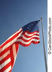bandera, estrella, spangled, 1812, guerra