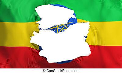 bandera etiopía, andrajoso