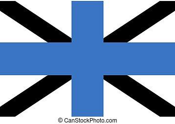bandera, forma, rectangular