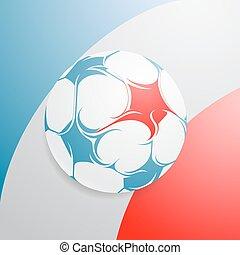 bandera francia, con, fútbol