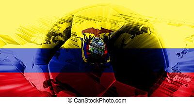 bandera, futbol, ecuador