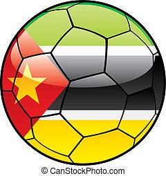 bandera, futbol, mozambique, pelota
