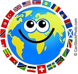 bandera, globo