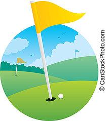 bandera, golf