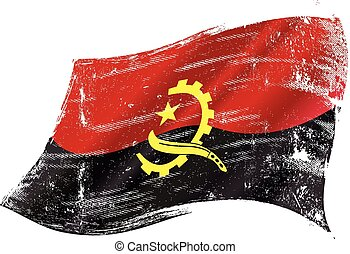 bandera, grunge, angoleño