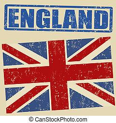 bandera, grunge, británico
