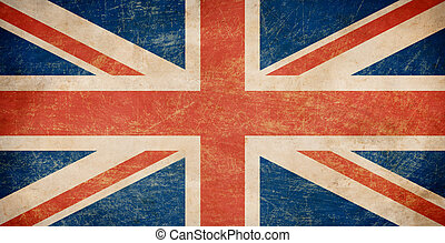 bandera, grunge, brytyjski