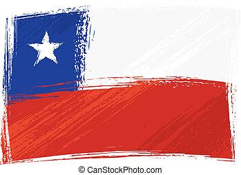 bandera, grunge, chile