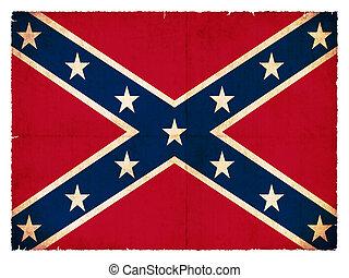 bandera, grunge, confederado