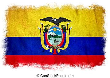 bandera,  Grunge,  Ecuador