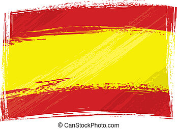 bandera, grunge, españa
