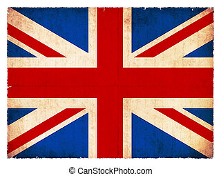 bandera, grunge, gran bretaña