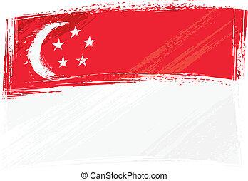bandera, grunge, singapur