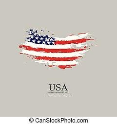 bandera, grunge, styl, usa