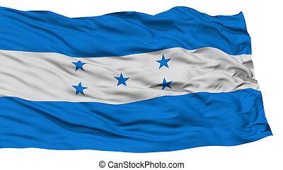 bandera,  honduras, aislado