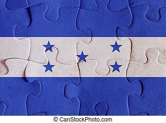 bandera,  honduras, rompecabezas