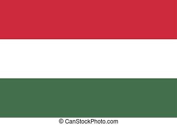 bandera hungría, vector, ilustración