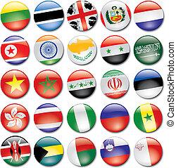 bandera, iconos