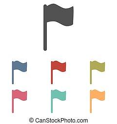 bandera, iconos, conjunto