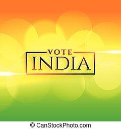 bandera india, colores, indio, plano de fondo, voto