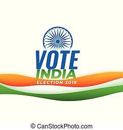 bandera india, indio, elección, plano de fondo, voto