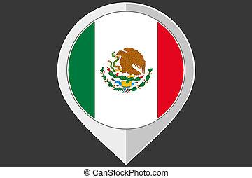bandera, indicador, méxico