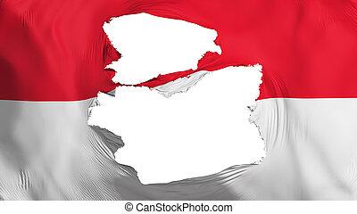 bandera, indonesia, andrajoso